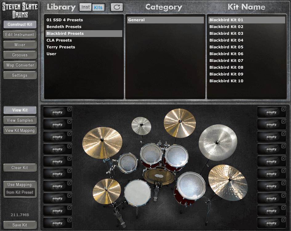 SSD4专业级原声鼓-Steven Slate Drums Platinum 4-乐球网